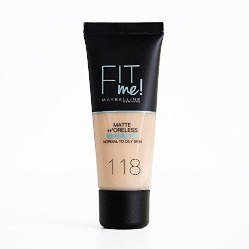 Maybelline New York Base de Maquillaje Fit Me (Mate y Sin poros),...