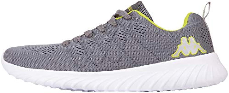 Kappa FESTY, scarpe da ginnastica Unisex-Adulto, grigio (grigio Lime 1633), EU | Un equilibrio tra robustezza e durezza  | Maschio/Ragazze Scarpa