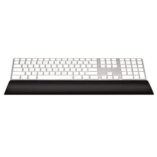 Fellowes I-Spire Series - Reposamuñecas para teclado, flexible, color negro