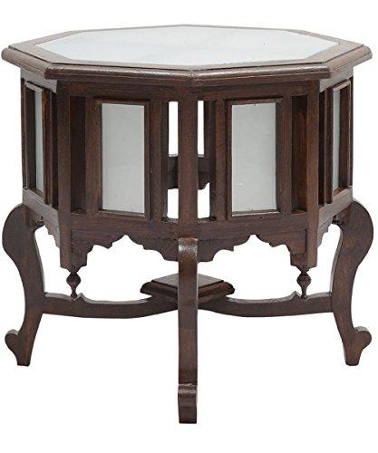 VarEesha Teak Wood Octagon Antique Finish Coffee Table