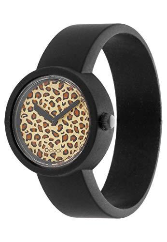 O Clock fullspot Watch Safari Leopard Black Rosa Schwarz Grau 100% Silikon NEU - Neu In Leopard