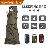 CAMTOA ultraleicht, klein, warm Schlafsack Hüttenschlafsack, Outdoor Wasserdicht Camping Sleeping Bag Sommerschlafsack Armeegrün