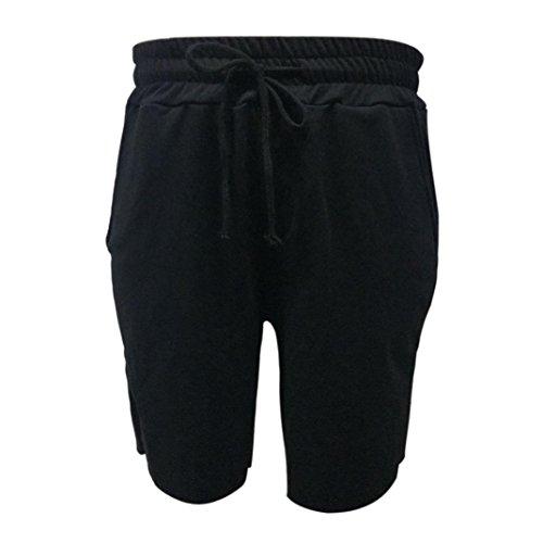 ASHOP Herren Kurze Hose Slim fit Stretch Trainingshose Sporthose Freizeitshose Mit Kordel Größe M-XL (XXL)