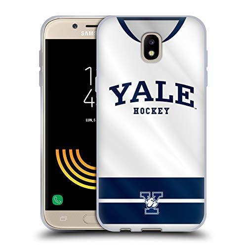 Head Case Designs Offizielle Yale University Hockey 2017/18 Jerseys Soft Gel Hülle für Samsung Galaxy J5 (2017) - Galaxy Jersey