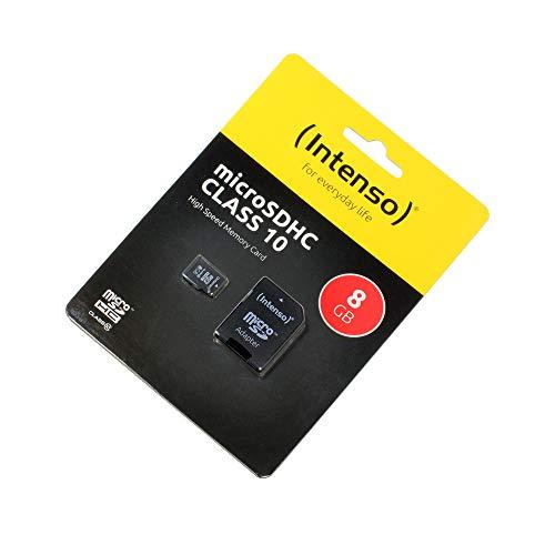 P4A Cyrus cm 16 - HYBRID, Speicherkarte, 8GB, microSDHC, Class 10, High Speed, SD Adapter, Schnelle Schreib- und Lesegeschwindigkeit