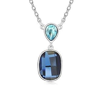 Daesar Schmuck Damenkette Vergoldet Träne Oval Halsketten Zirkonia Anhänger Halskette für Frauen
