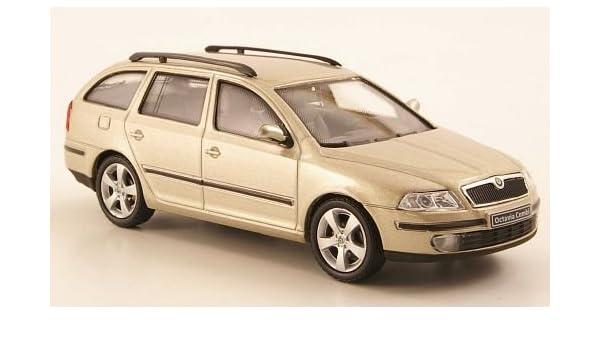 Abrex 1:43 Fertigmodell met.beige Modellauto Skoda Octavia Combi Tour