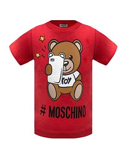 Moschino t-shirt da bimbo/a in cotone, 2 anni, rosso