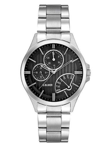s.Oliver Herren-Armbanduhr Multifunktion SO-1707-MM