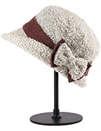 Categoría sombreros de mujer, nuevo señoras de invierno, gorro de lana, sombrero alto,beige
