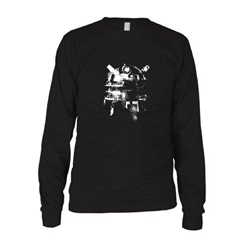 Dalek Splash - Herren Langarm T-Shirt Schwarz