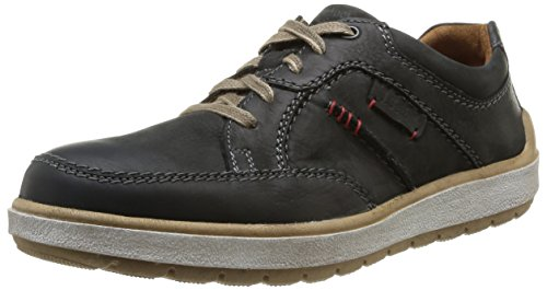 Josef Seibel Schuhfabrik GmbH Rudi 06, Herren Derby Schnürhalbschuhe, Schwarz (schwarz 600), 47 EU (13 Herren UK) (Leder-hi-low Rock)