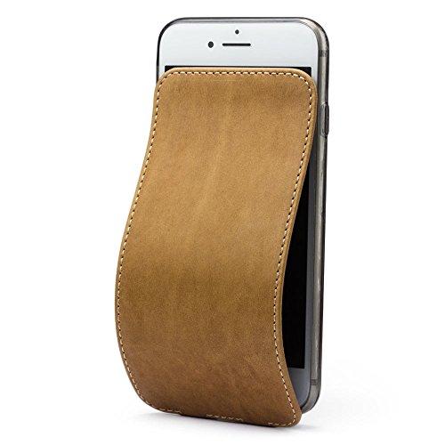 Marcel-Robert - Lederhülle für iPhone 8 Plus - patentiertes Model - aus Echten Kalbleder - Premium-Qualität - Hergestellt in Frankreich - [ VINTAGE ] - Französisch-kalb-leder