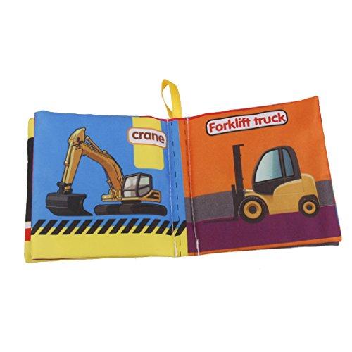 Sharplace Baby Spielzeug Stoffbuch Tuch Buch Kleinkindspielzeug Kinder Pädagogisches Spielzeug – Auto