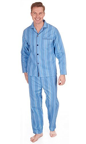mens-die-traditionelle-flanell-pj-pyjama-set-nachtbekleidung-pj-schlafanzuge-sets-herren-baumwolle-b