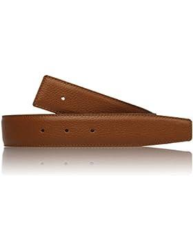 Cinturón reversible coñac de auténtica piel para hombre y mujer de 4cm de ancho cinturón marrón