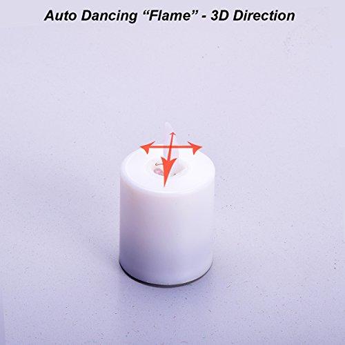 Cocar Batería Velas de Cera Bailando Realista Lifelike y Brillante Parpadeo del Bulbo para Navidad Gracias Dando Cumpleaños Boda - Paquete de 6
