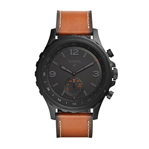 £157.06 Hot FOSSIL Hybrid Smartwatch Q Nate Dark Brown Leather – Android and iOS Compatible – Bluetooth Smartwatch Technology – Activity and Sleep Tracker, Smartphone Notifications