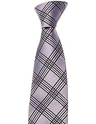 Krawatte von Mailando, kariert, sehr elegant, grau, schwarz, gold, blau, rot,...