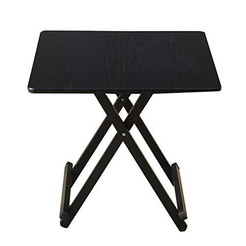 YXX Petite Table Basse carrée et à café en Bois à la Maison, Table à Manger Pliante de Cuisine Noire avec des Jambes en Acier pour des Enfants (Taille : 58x58x55cm)