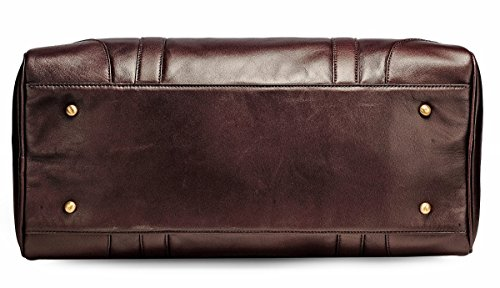 The House Of Tara Genuine Leather Duffle (Wine)