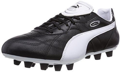 Puma Liga Classico FG, Herren Fußballschuhe, Schwarz (black-white-puma silver 01), 43 EU (9 Herren UK) (Schuhe Puma Fußball)