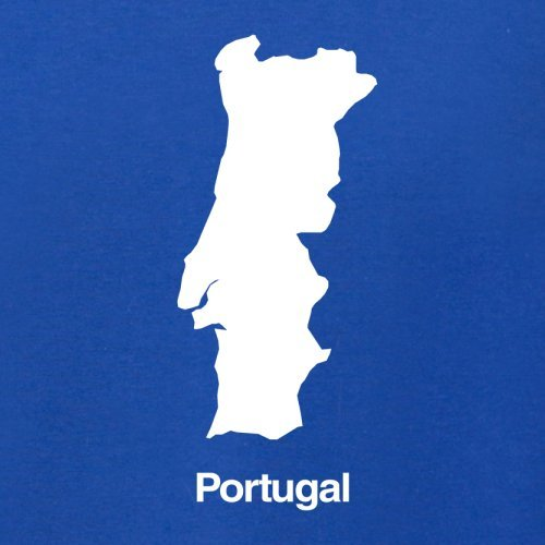 Portugal / Portugiesische Republik Silhouette - Damen T-Shirt - 14 Farben Royalblau
