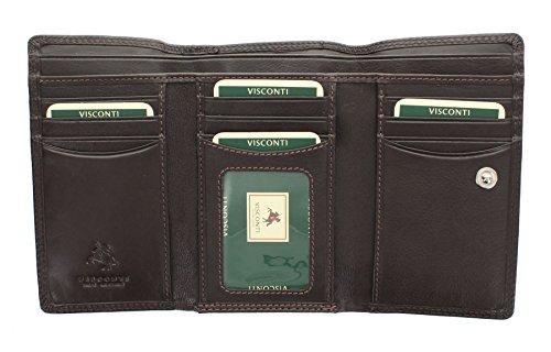 Portafoglio da Donna Flap Over in Pelle Visconti Collezione Heritage PICCADILLY HT32 Cioccolato Cioccolato