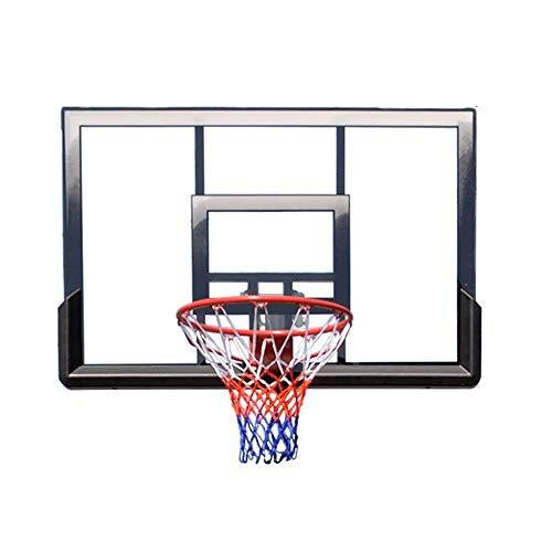 Pessica Outdoor-Wand-Basketball-System, Home-Basketball-Board, PC Transparente Platte, Leichte Textur, Schlagfest, Langlebig -