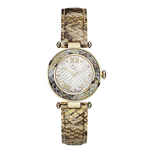 GUESS COLLECTION WOMEN'S GC LADYCHIC 32MM LEATHER BAND QUARTZ WATCH Y10003L1