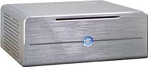 Gehäuse Inter-Tech Mini-ITX E-i7 Silver, 1x USB 2.0 + 1x USB 3.0, inkl. 84W Netzteil