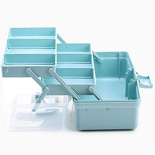 DYFO Hausapotheke Aufbewahrungsbox Medizin-Box mit Griff Erste Hilfe Box für Familie,Reisen,Rettung-Blau