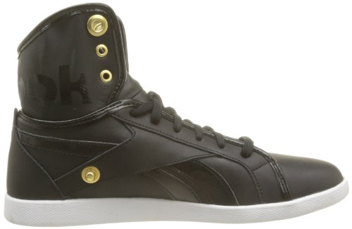 Reebok Top Down Snaps, Baskets mode femme Noir (Black/True Gold/White)