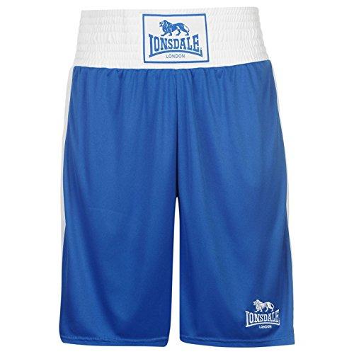 Lonsdale Herren Boxing Shorts Trainingshose Boxen Sporthose Kurze Hose Blau Large