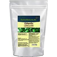Chlorella Presslinge 250mg (2000 Stk.) 500g Tabletten preisvergleich bei billige-tabletten.eu