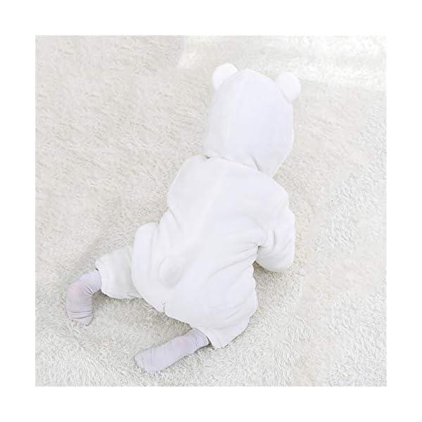Recién Nacido Franela Mameluco Bebé Unisexo Invierno Jumpsuit Animal Caricatura Trajes 0-24 Meses 5