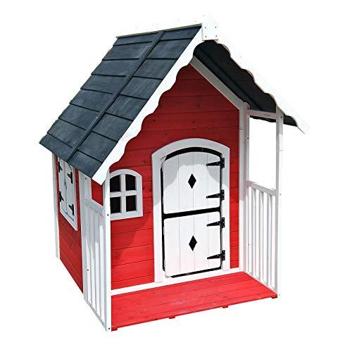 WilTec casita infantil con terraza