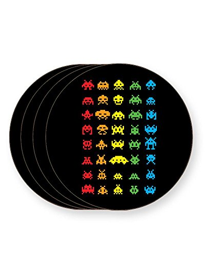 Space Invaders Drink Coasters x 4 or Individual