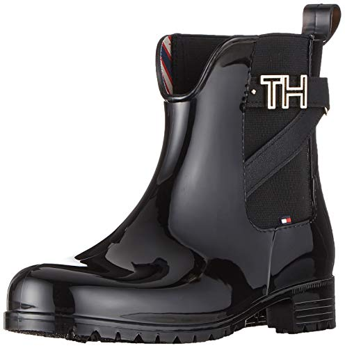 Tommy Hilfiger Th Hardware Rubber Bootie, Botines...