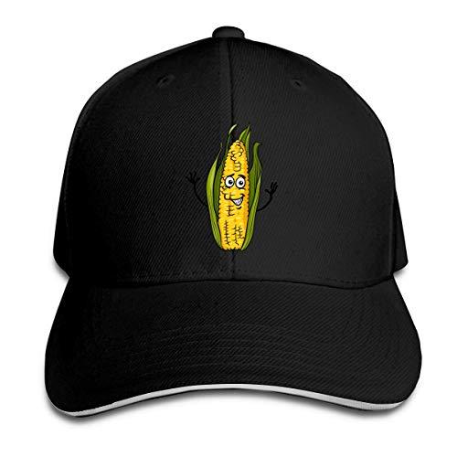 Trucker-Baseballmütze für Männer, Funny Corn On The Cob Calassic Men/Women Trucker Hat Adjustable Peaked Sandwich Hat Baseball Cap Corn-cob-form