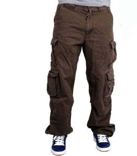 JET LAG 007 ancho Cargo pantalones de esquí para hombre (28 44 -) FABFIVE con diseño de llavero