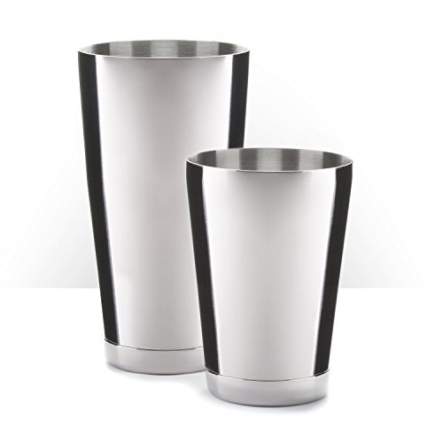 Piña Barware - Barra Comercial de Acero Inoxidable Boston Shaker Set – 830mL (28oz) & 530mL (18oz)