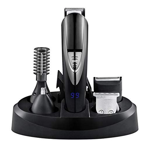 Beard Trimer Hair Clipper for Men Mustache & Body Electric, Trimmer T-Blade Trimmer, Head to Toe Lithium Powered Body Groomer Kit -