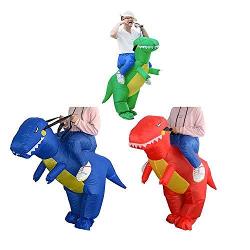 Wenwenzui Lustige aufblasbare Dinosaurier reiten Kleidung Party Cosplay Blowup kostüm grün Erwachsene (Aufblasbare Kostüm Reiten Dinosaurier)