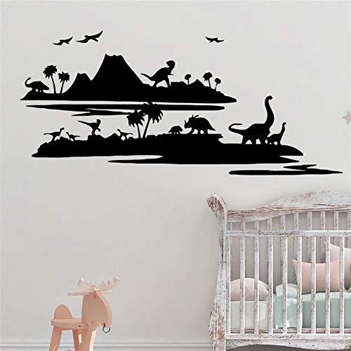 zhuziji Lustige Dinosaurier Jurassic World Wandaufkleber Abnehmbare Wandaufkleber Tapete Für Kinderzimmer Dekor Kunst Dekor Wohnkultur Vin 58 X 26 cm