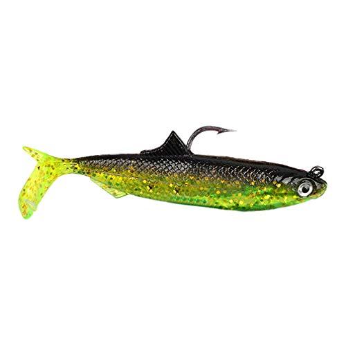 KaariFirefly Künstliche Weich Köder Fisch Geformt Salzwasser Süßwasser Angeln Köder Tackle Haken, Mehrfarbig, 3#