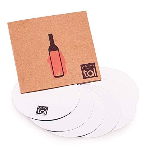 Blumtal 6x Weinausgiesser - Weinflaschen Ausgiesser ohne Tropfen, Silber