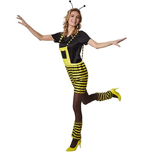 Preisvergleich Produktbild dressforfun 900563 Damenkostüm Fleißiges Bienchen,  Bienenkostüm in Schwarz und Gelb (XL / Nr. 302708)