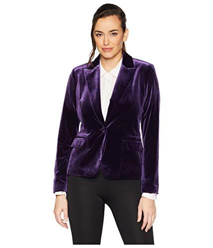 Tahari ASL Womens One-Button Velvet Jacket