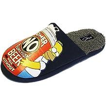 Socks Uwear - Zapatillas de ir por casa para hombre, diseño Homer Simpson, forro polar